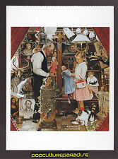 NORMAN ROCKWELL April Fool (Girl with Shopkeeper - 1948) ARTIST ART POSTCARD