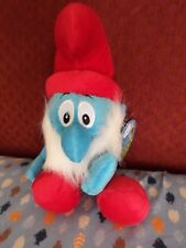 Papa Smurf window hanger Peyo plush NWT (tbl4)
