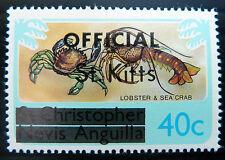 St KITTS & NEVIS 1980 40c OFFICIAL No WMK SG04B SCARCE Cat £9 U/M BN1028