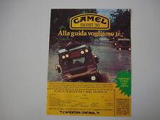 advertising Pubblicità 1984 CAMEL TROPHY '85