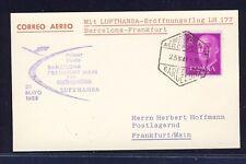 50829) LH FF Barcelona Spanien - Frankfurt 25.5.59, sp.card