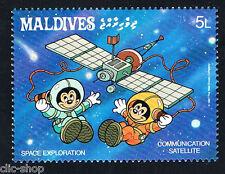 WALT DISNEY 1 FRANCOBOLLO MALDIVES SPAZIO COMMUNICATION SATELLITE 1987 nuovo