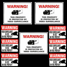 HOME SECURITY CAMERAS WARNING SIGNS FOR HOUSE+WINDOWS STICKER DECALS