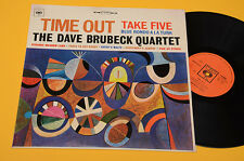 DAVE BRUBECK QUARTET LP TIME OUT 1°ST ORIG ITALY 1968 EX+ ! AUDIOFILI FLIPBACK !