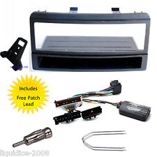 FORD FOCUS 1998 - 2004 SINGLE DIN FITTING KIT STALK ADAPTER & JVC PATCH LEAD