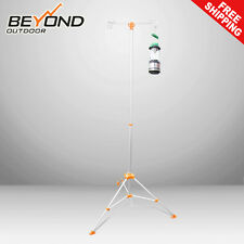 NEW Portable Lantern Pole Holder Two Hooks with Carry Bag For LED Lights Camping