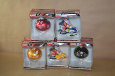 Lot Of (5) 2011 Glass Nascar Christmas Ornaments In Box  Lowes M&M's #1799