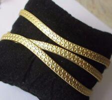 Bijou Vintage bracelet rétro rigide large élégant finement gravé couleur or 557