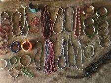 LOT: Mixed Jewelry Costume / BOHO Chic / Necklaces/ Bracelets/Wood/Beads/etc
