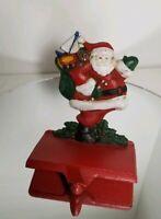 Vintage MIDWEST Solid Cast Iron Santa Christmas Stocking Hanger Holder