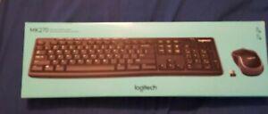 Logitech Wireless Combo MK270 Keyboard & Mouse - 2.4GHz - Full Size Wireless NIP
