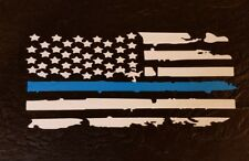 Police lives matter. Thin Blue line flag.Hold the line. vinyl window/car decal 4