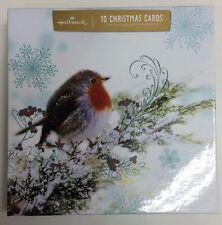 Sello Rojo Navidad Robin Galería Tarjeta De Edición Caja De 10 Tarjetas 11268731