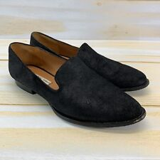& Other Stories Shoes 39 US 8 Black Suede Leather Slip On Loafer Flats B151