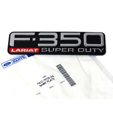 "OEM NEW Right or Left Fender Emblem ""F-350 Super Duty Lariat"" F81Z-16720-XA"