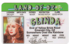 GLINDA witch- The Wizard of OZ novelty plastic collectors card Drivers License