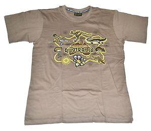 Unisex Souvenir T-shirt 100% cotton Australia Native Creatures(Kangaroo, Emu,..)