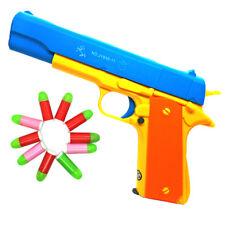 2pcsxColt 1911 Rubber Bullet Toy Gun - Realistic 1:1 Scale Pistol