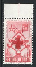 Haiti 1958 Red Cross 2.50 With Inverted Overprint MNH