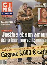 CINE REVUE (belge) 2003 N°50 jenifer celine dion justine henin alain delon