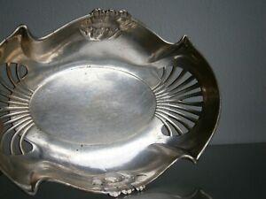 CORBEILLE ART NOUVEAU DECOR FLORAL 1900 ORFEVRERIE St GALLIA ANCIEN ART TABLE
