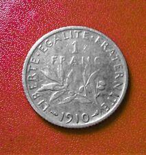 1 FRANC SEMEUSE  1910 ARGENT (B1128)