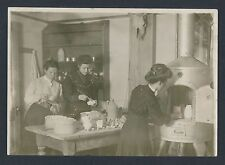 1910 VICTORIAN COLLEGE GIRLS MAKING POTTERY (Newcomb College?) Vintage Photo SET