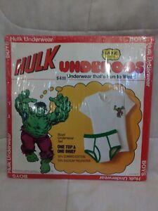 Vintage Boys Hulk Underoos Underwear Set Large 10-12