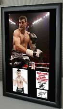 """Carl Froch Boxing World Champion Framed Canvas Print Signed    """"Great Gift"""""""