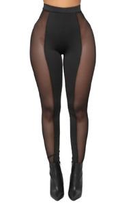 Black Mesh Leggings - Fashion Nova