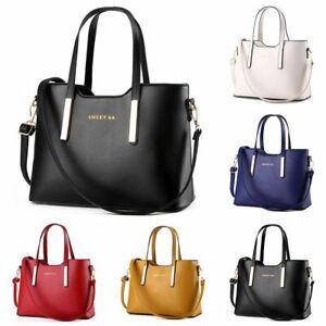 Women Leather Handbag Messenger Shoulder Bag Ladies Purse Tote Crossbody Satchel