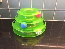 Three Layer Cat Spinning Ball Toy - Interactive Play Present Gift Pet Exc Cond