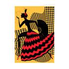 Painting Illustration Spanish Flamenco Dancer Design Framed Wall Art Print