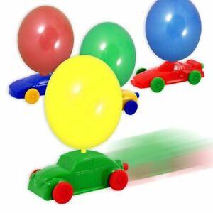Ballon-Rennwagen, Auto mit 2 Luftballons aus Latex, Spielzeugauto für Kinder