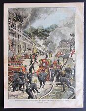 1906 SPAGNA MADRID ATTENTATO REALI Quartu Sant'Elena MILANO CONCORSO POMPIERI