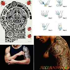 Large Temporary Body Art Arm Left Shoulder Tattoo Sticker Man Women Removable hy