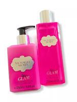 New! Victoria Secret Tease Glam Fragrance Mist And Lotion Set Full Size 8.4 Oz