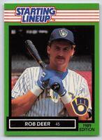 1989  ROB DEER - Kenner Starting Lineup Card - MILWAUKEE BREWERS