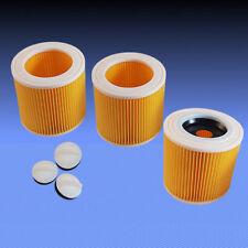 3 Patronenfilter Rundfilter Lamellenfilter Filter für Staubsauger Dewalt D27901