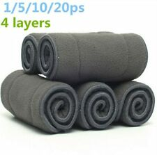 USA Bamboo Fiber Charcoal Washable Insert Reusable 5 Layers Cloth Nappies Diaper