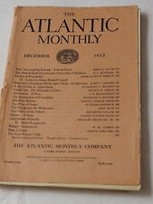 THE ATLANTIC MONTHLY December 1912 wonderful Advertisements Great Story's