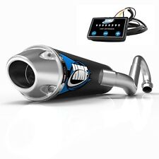 HMF Competition Comp Full System Exhaust Pipe + EFI Optimizer LTZ 400 2003-2014