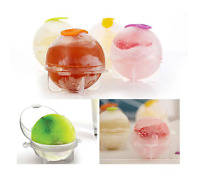 Round Ice Cube Balls Maker Sphere Molds For Whisky Party Cocktails Set of 4 Gift
