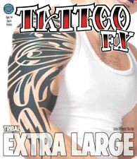 Tinsley Transfers Extra Large Temporary Tattoo - Tribal Horror Halloween Make Up