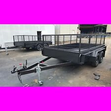 11x6 tandem trailer box trailer with crate heavy duty aus made caged trailer