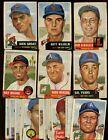 1953+Topps+Baseball+Card+Lot+32+Different