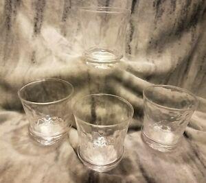 RARE SIGNED Juliska Glassware CARINE Double Old Fashioned Set/4