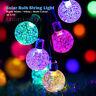 30 Luz Bombilla LED Solar de Cadena Bolas Jardín Árbol Illuminación Nocturna
