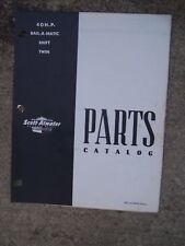 Scott - Atwater Outboard 40 HP Bail-A-Matic Shift Twin Parts Book 336 3675A   U