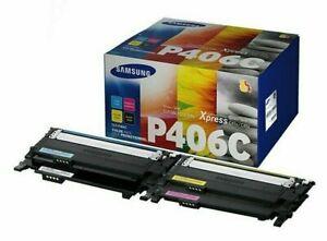 Genuine 4 Colour Samsung P406C Toner Cartridge Multipack - (CLT-P406C)